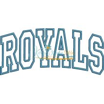 Royals Arched Applique Snap Shot