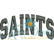 Saints Arched 4x4 Satin Snap Shot