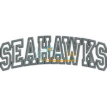Seahawks Arched Applique Snap Shot