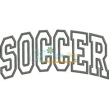 Soccer Arched Applique Snap Shot