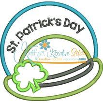 St. Patrick's Day Hat Applique Snap Shot