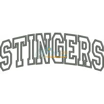 Stingers Arched Applique Snap Shot