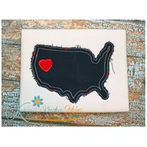 United States Distressed Applique