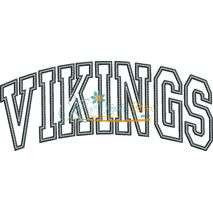 Vikings Arched Applique Snap Shot