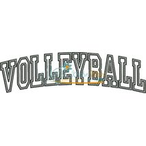 Volleyball Arched Applique Snap Shot