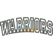 Warriors Arched Applique Snap Shot