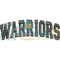 Warriors Arched 4x4 Satin Snap Shot