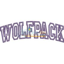 Wolfpack Arched