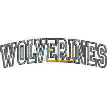 Wolverines Arched Applique Snap Shot
