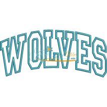 Wolves Arched Applique Snap Shot
