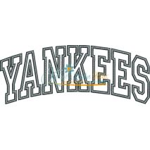 Yankees Arched Applique Snap Shot