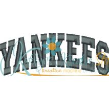 Yankees Arched 4x4 Satin Snap Shot