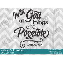 With God all Things are Possible SVG Files