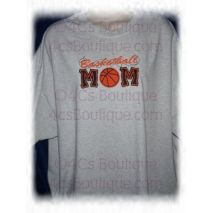 Basketball Applique Mom with a Twist stitched by 4C's Boutique