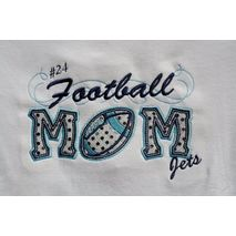 Football Mom Applique with a Twist stitched by Creative Chaos