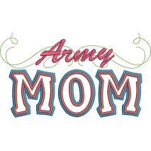Army Mom Applique Snap Shot