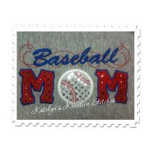 Baseball Mom Applique with a Twist