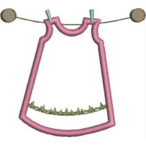 Clothesline Applique 4x4 Snap Shot