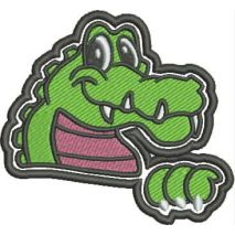 Gator Mascot Fill Stitch Snap Shot
