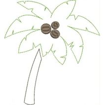 Palm Tree Applique Snap Shot