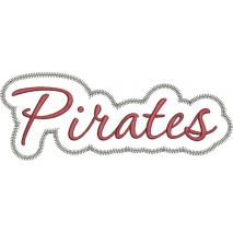 Pirates Applique Script Zig Zag Snap Shot