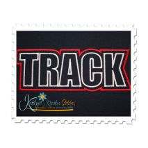 Track Text Applique