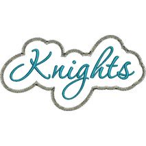 Knights Applique Script Zig Zag Snap Shot