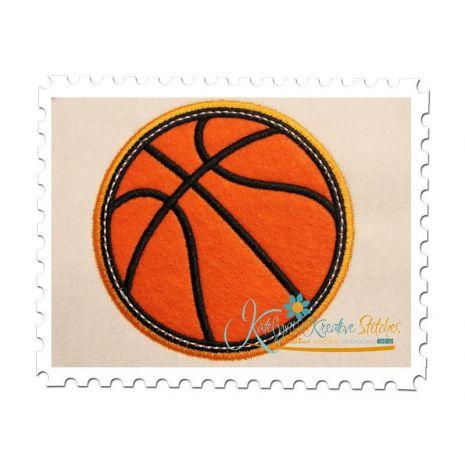 Basketball Applique Double Satin