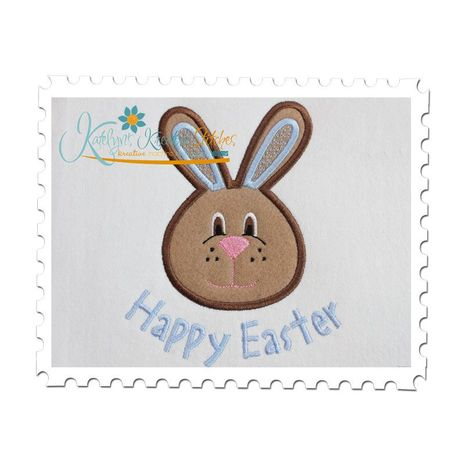 Bunny Boy Face Applique