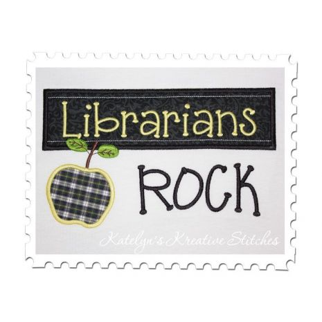 Librarians Rock Chalkboard Applique