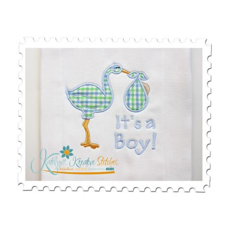 Stork Applique Boy