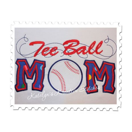 Tee Ball Mom Applique with a Twist