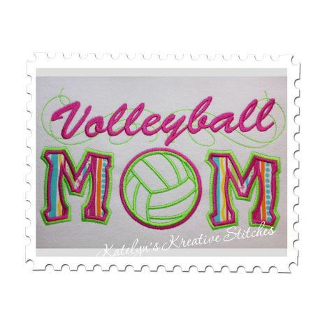 Volleyball Mom Applique with a Twist