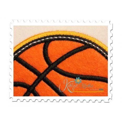 Basketball Applique Double Satin Close Up