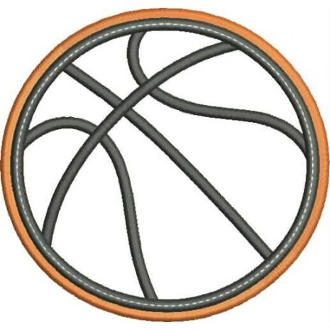Basketball Applique Double Satin Snap Shot