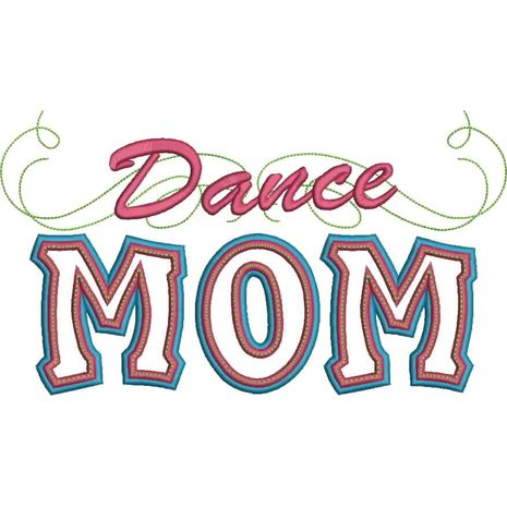 Dance Mom Applique with a Twist Snap Shot