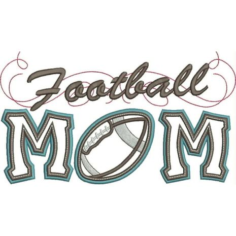 Football Mom Applique with a Twist Snap Shot
