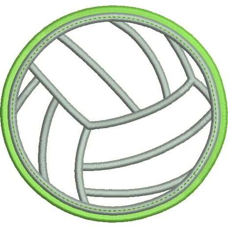 Volleyball Applique Double Satin Snap Shot
