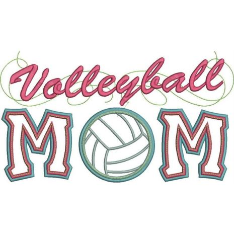 Volleyball Mom Applique Snap Shot