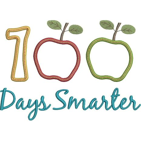 100 Days Smarter Applique Snap Shot