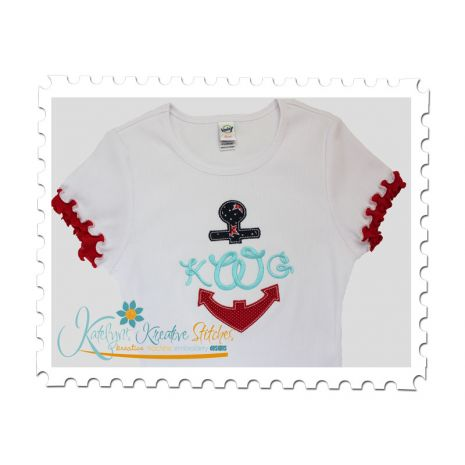 Anchor Split Applique Tee (Font not included)