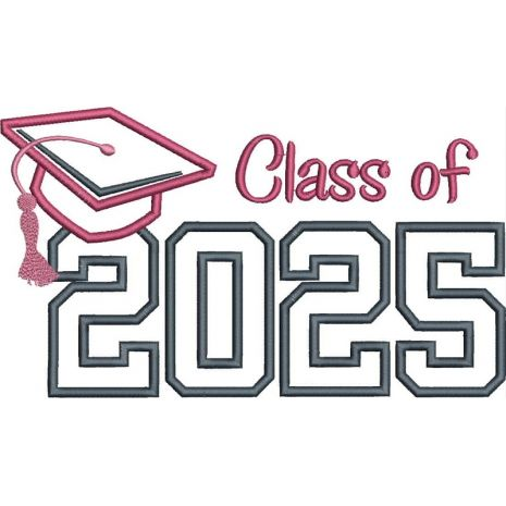 Class of 2025 Applique Satin Snap Shot