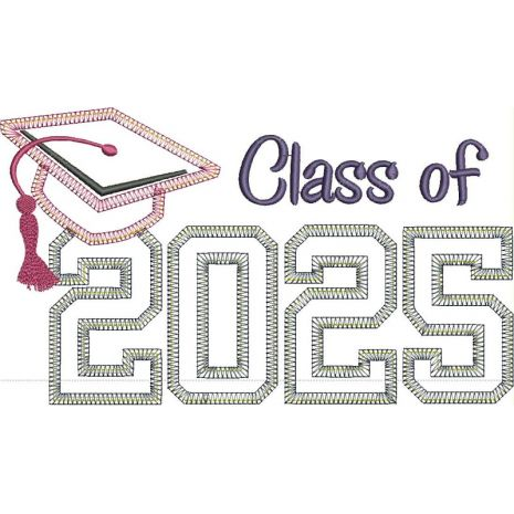 Class of 2025 Applique Vintage Snap Shot