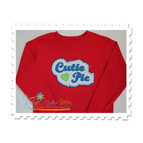 Cutie Pie Distressed Applique