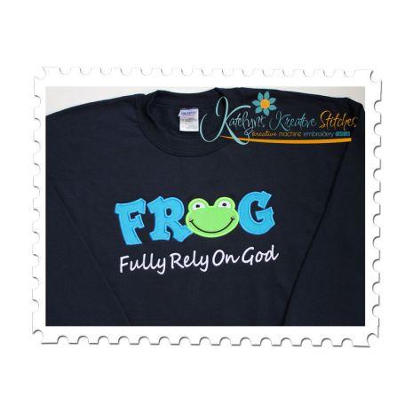 FROG Applique Text on Sweatshirt