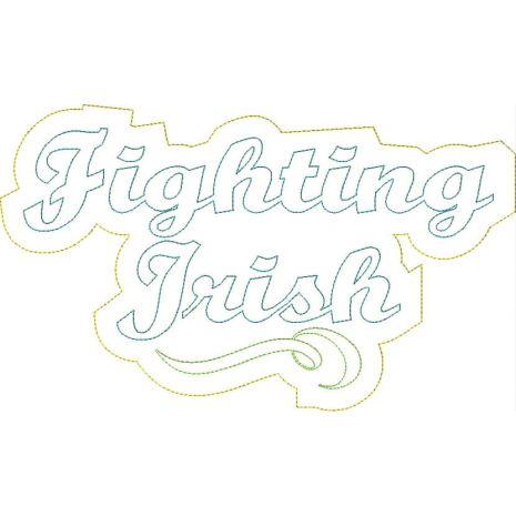 Fighting Irish Distressed Applique Snap Shot
