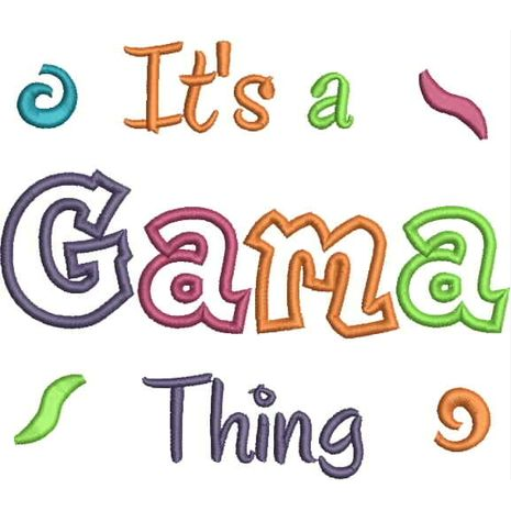 It's a Gama Thing Applique Snap Shot