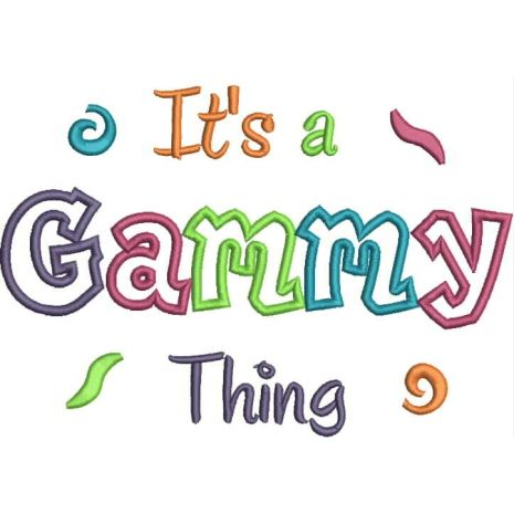 It's a Gammy Thing Applique Snap Shot
