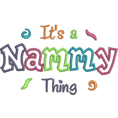 It's a Nammy Thing Applique Snap Shot