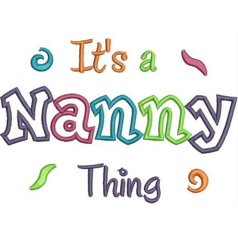 It's a Nanny Thing Applique Snap Shot